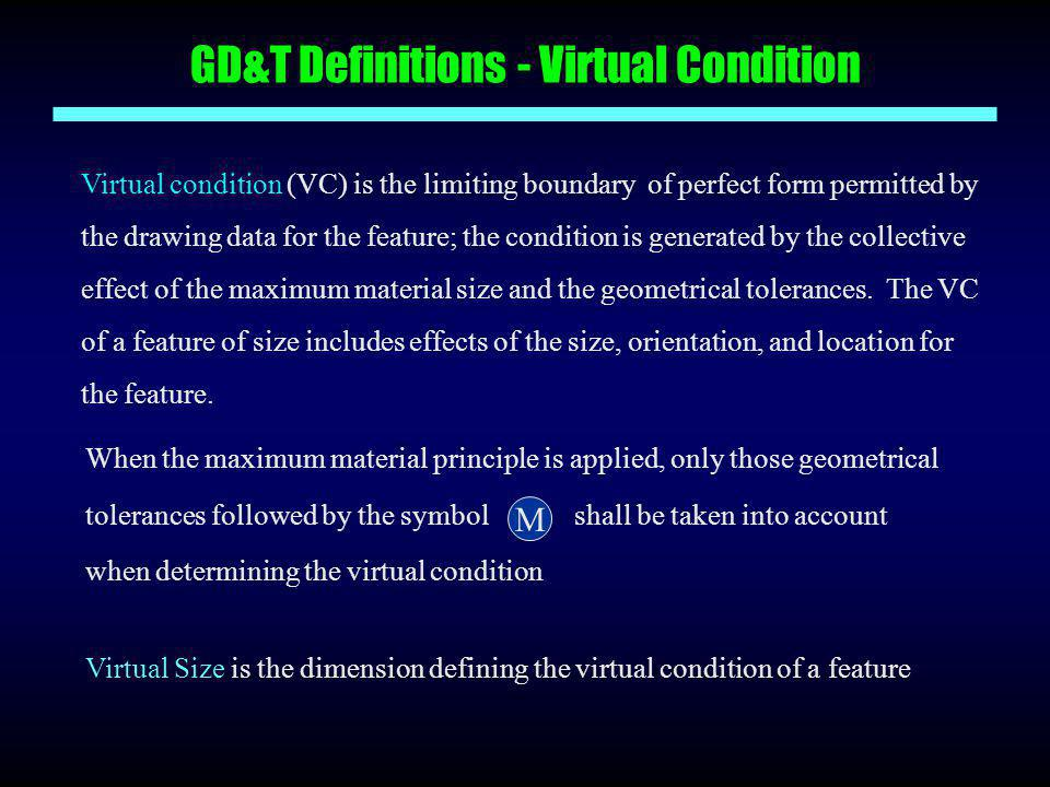 GD&T Definitions - Virtual Condition