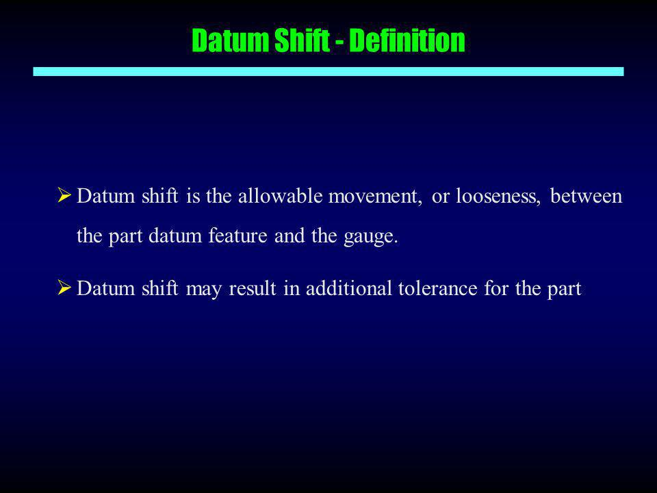 Datum Shift - Definition