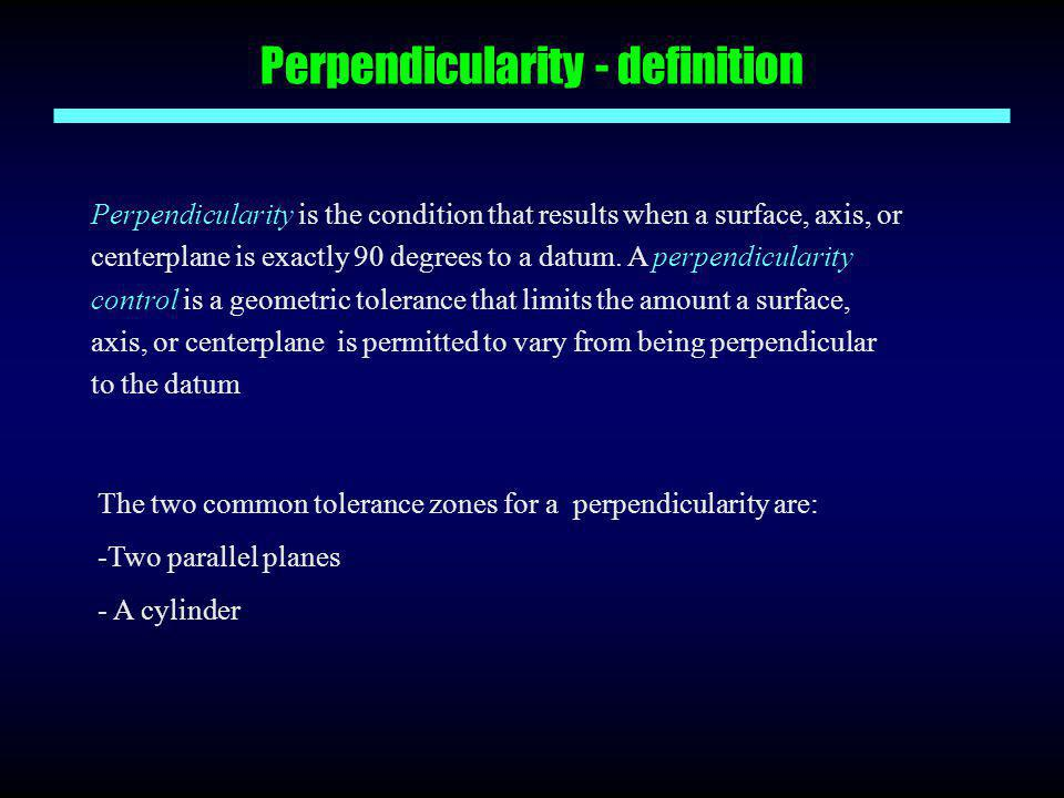 Perpendicularity - definition