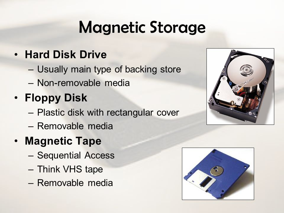 Magnetic Storage Hard Disk Drive Floppy Disk Magnetic Tape