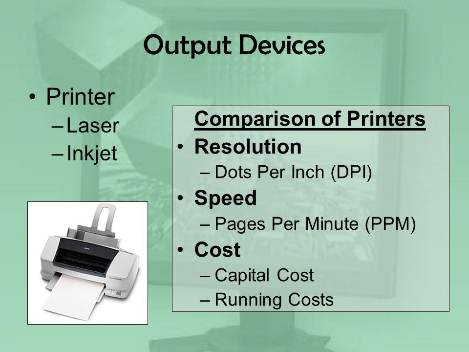 Comparison of Printers
