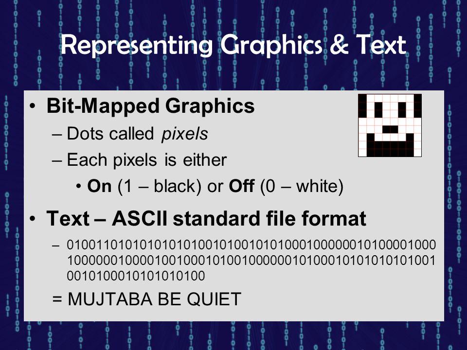 Representing Graphics & Text
