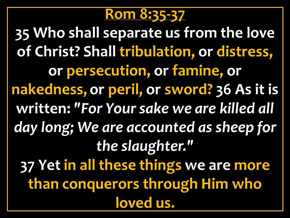 Rom 8:35-37