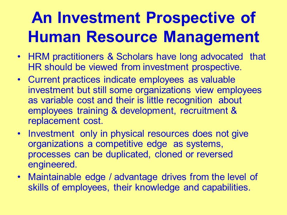 human resource management and development pdf