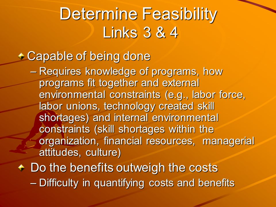 Determine Feasibility Links 3 & 4