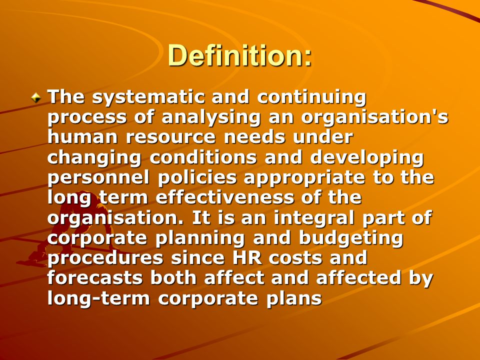 effectiveness of human resource planning procedures Keywords: strategic hrm, organizational performance, effective  business  processes and their skills and contribute in achieving the targets set by  can  positively impact organizational performance, such as human resource planning.
