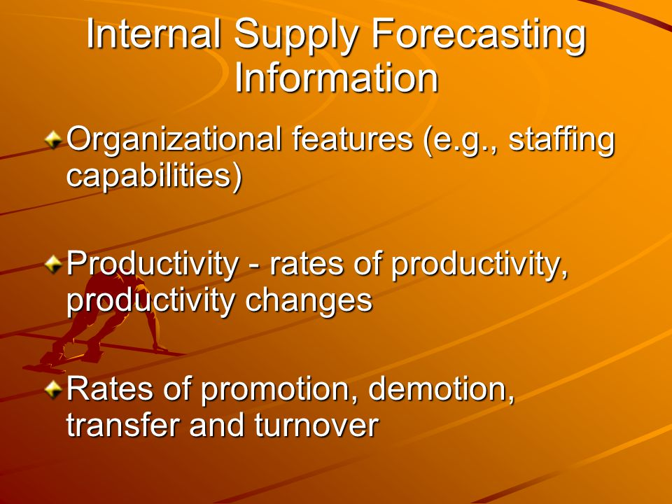 Internal Supply Forecasting Information