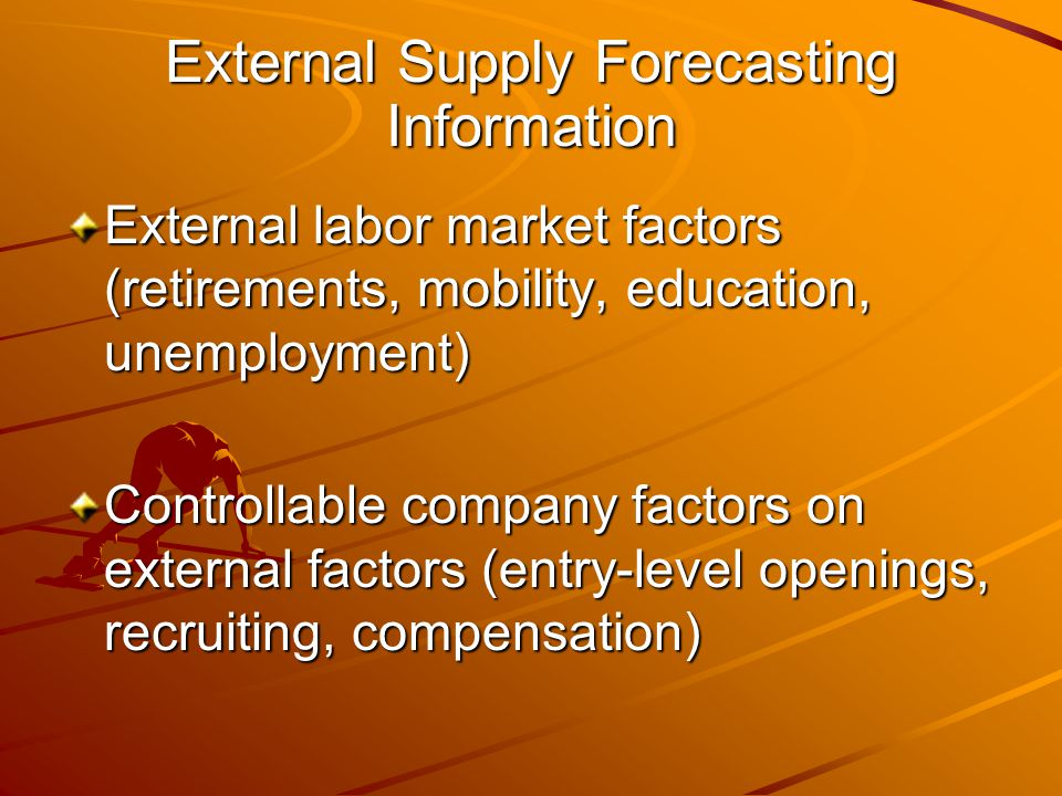 External Supply Forecasting Information