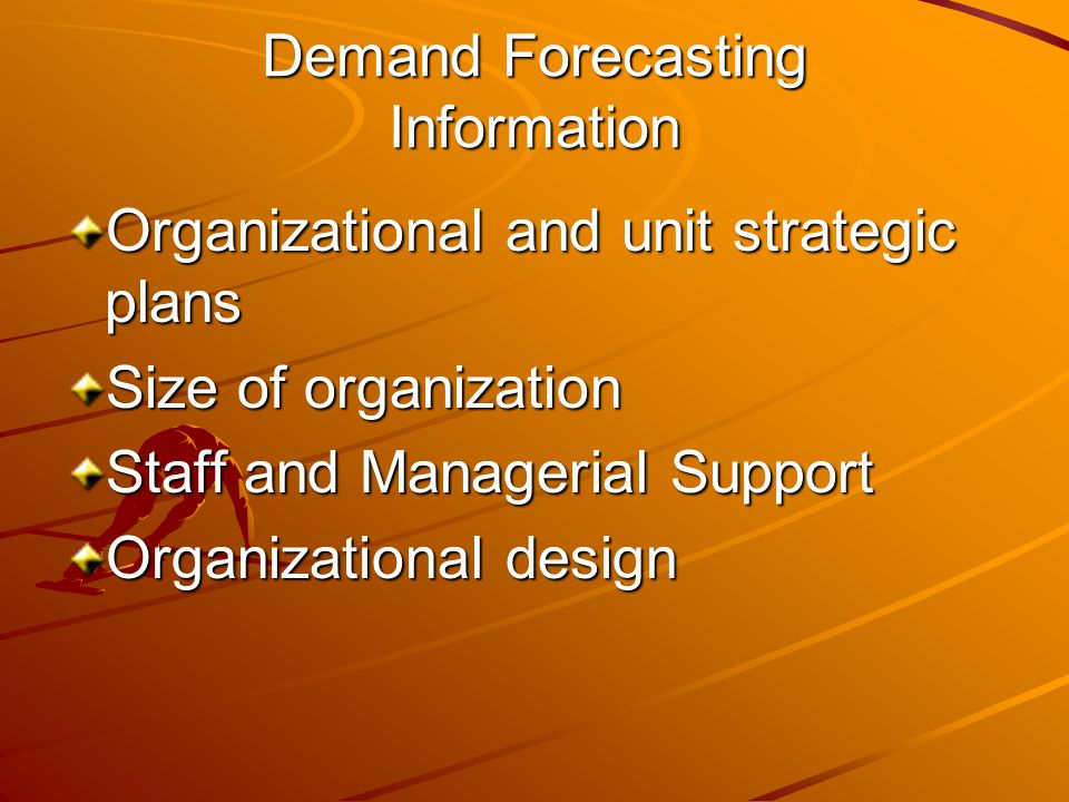 Demand Forecasting Information