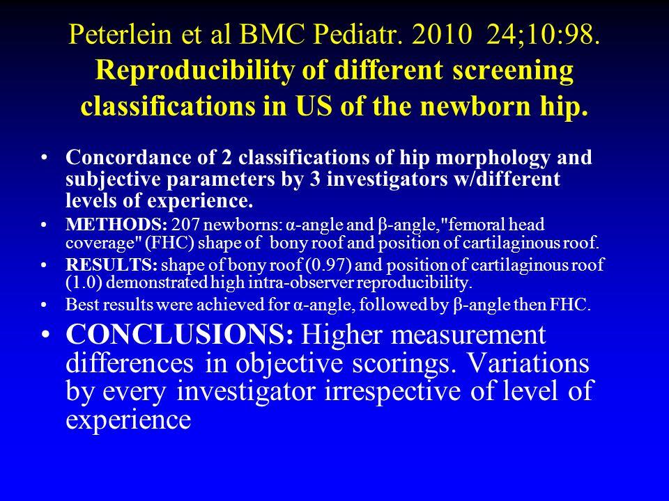 Peterlein et al BMC Pediatr. 2010 24;10:98