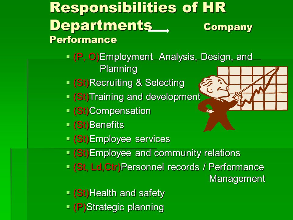 Responsibilities of HR Departments Company Performance