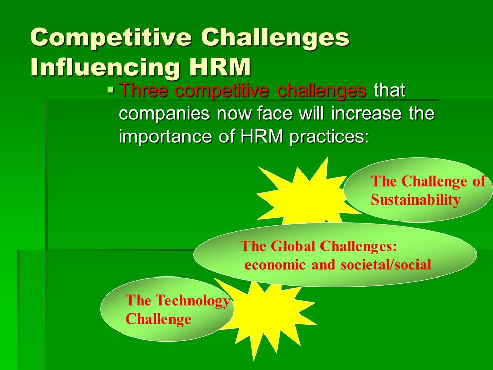 Competitive Challenges Influencing HRM