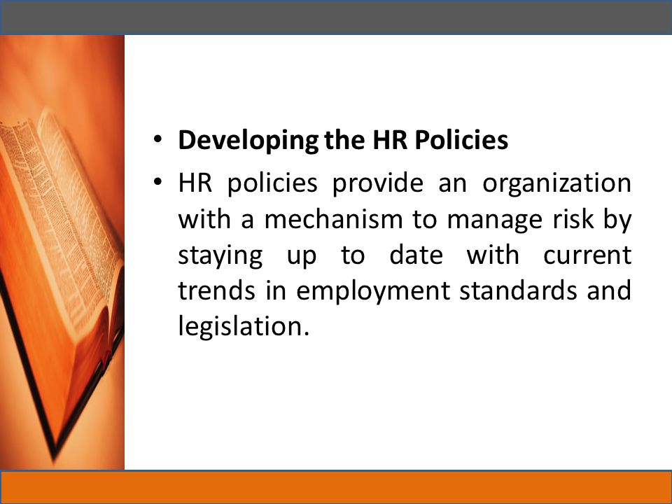 Developing the HR Policies
