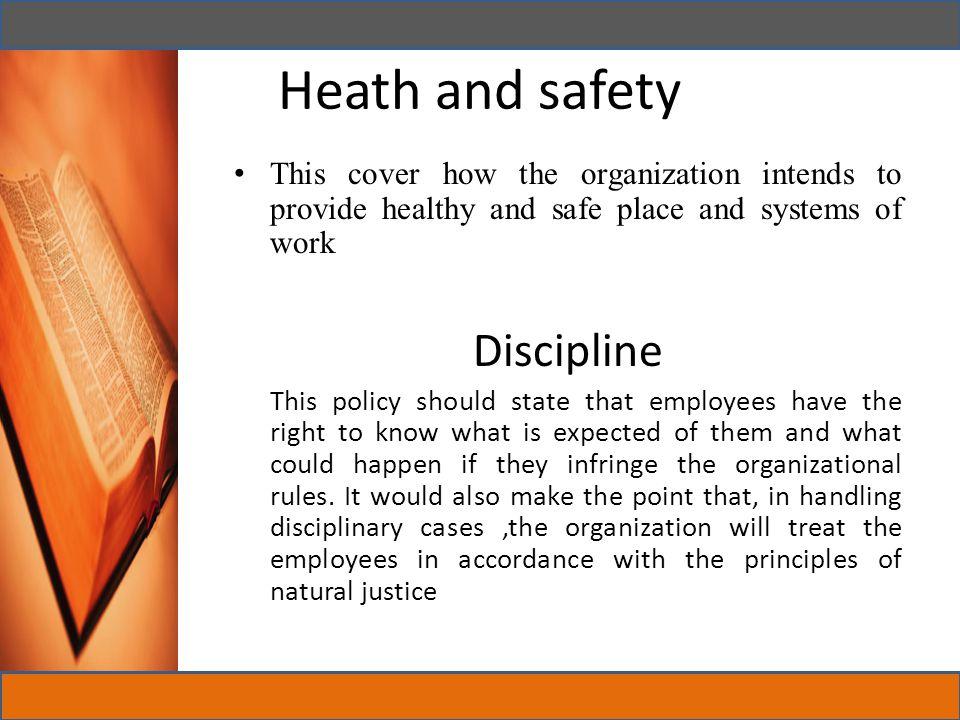 Heath and safety Discipline