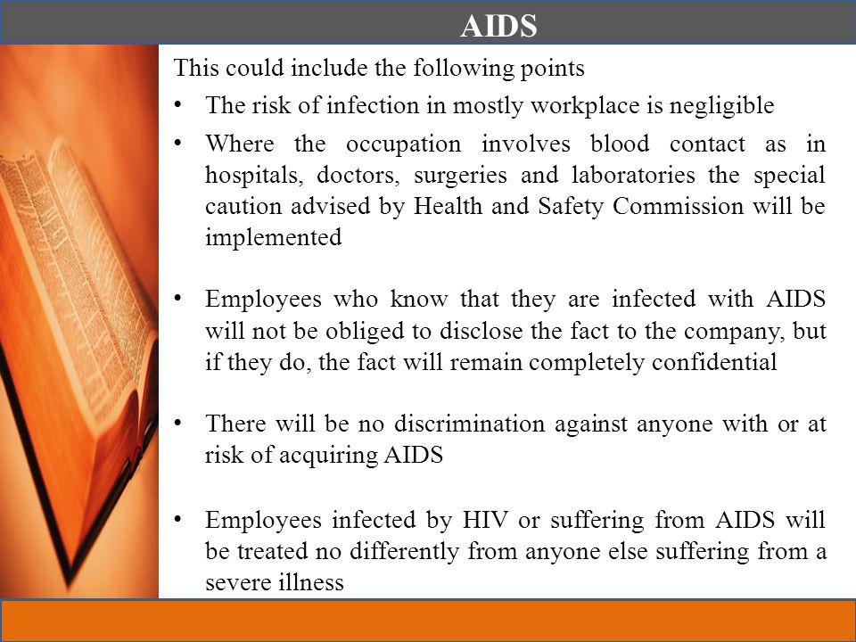 AIDS This could include the following points