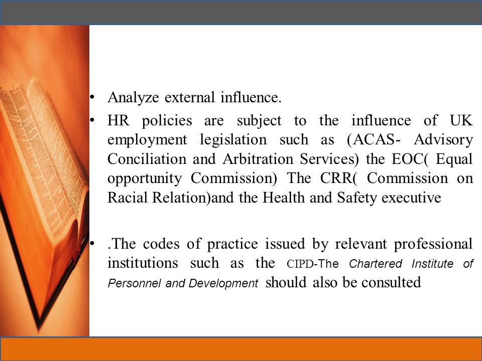 Analyze external influence.