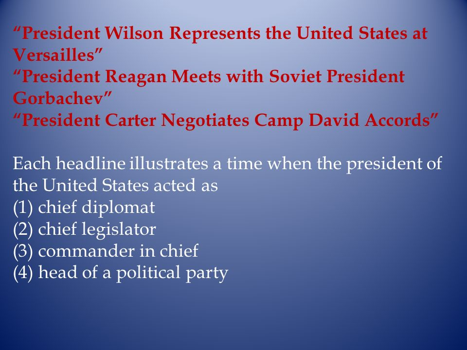 President Wilson Represents the United States at