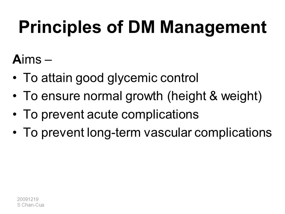 Principles of DM Management