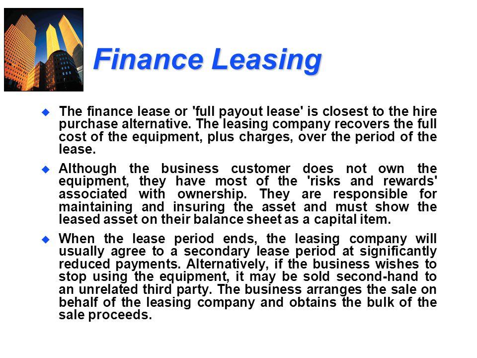 Finance Leasing