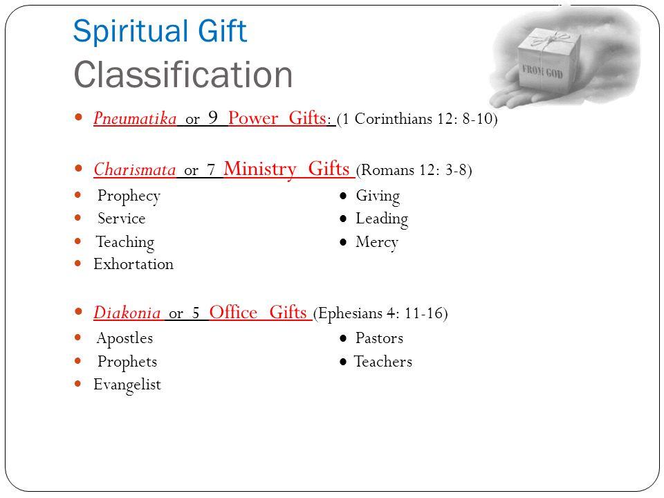 Spiritual Gift Classification