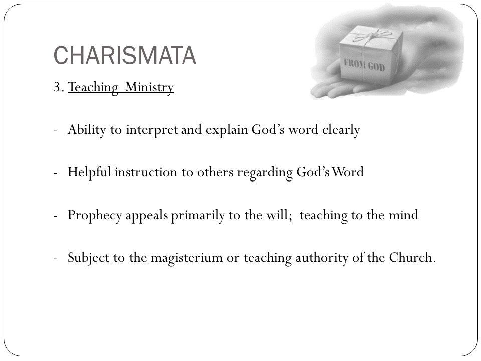 CHARISMATA 3. Teaching Ministry