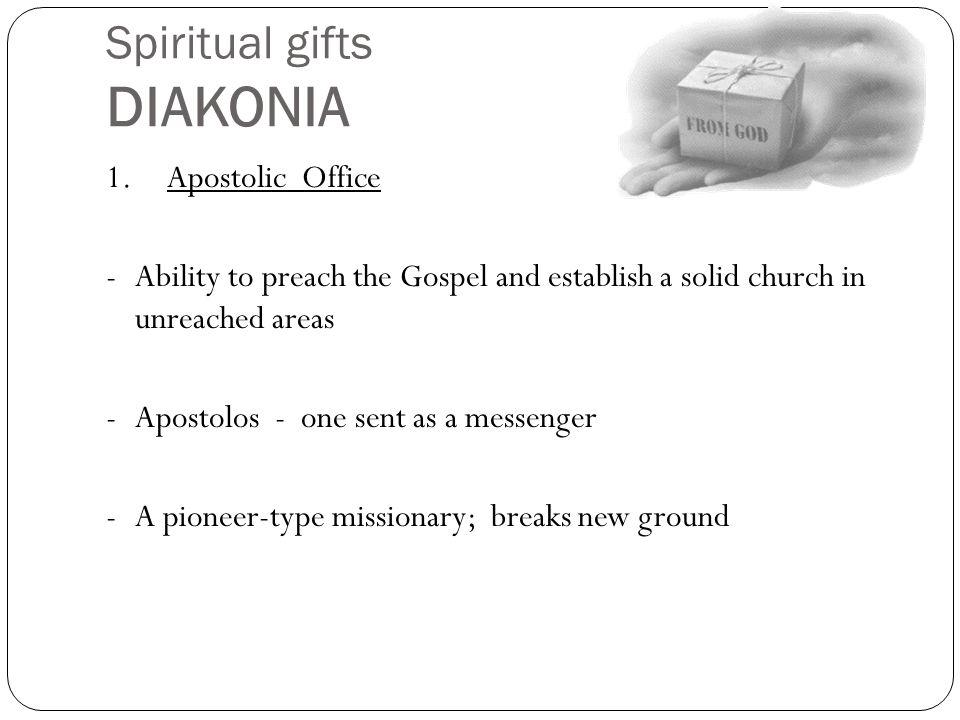 Spiritual gifts DIAKONIA