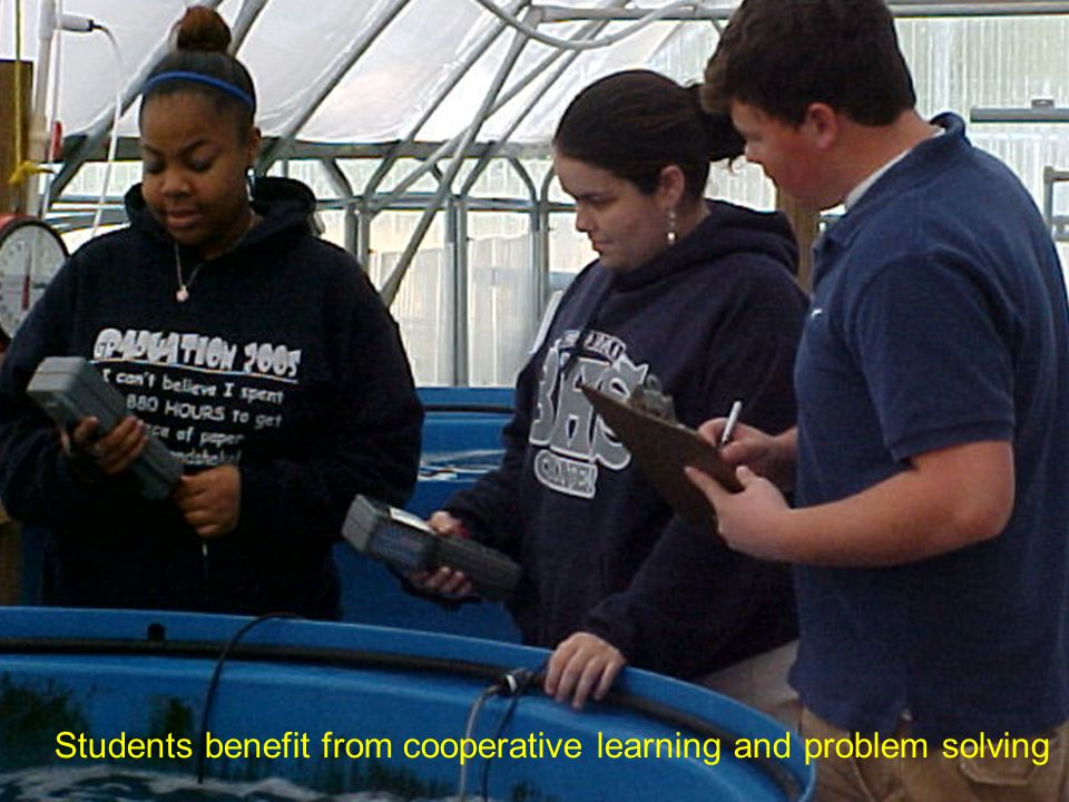 Students benefit from cooperative learning and problem solving