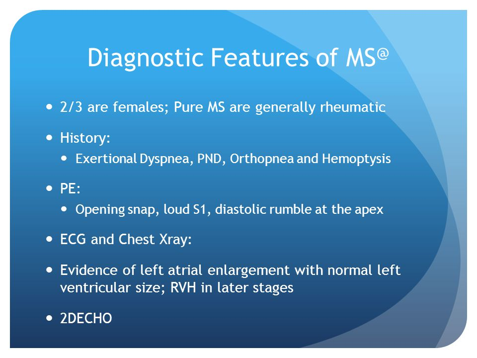Diagnostic Features of MS@