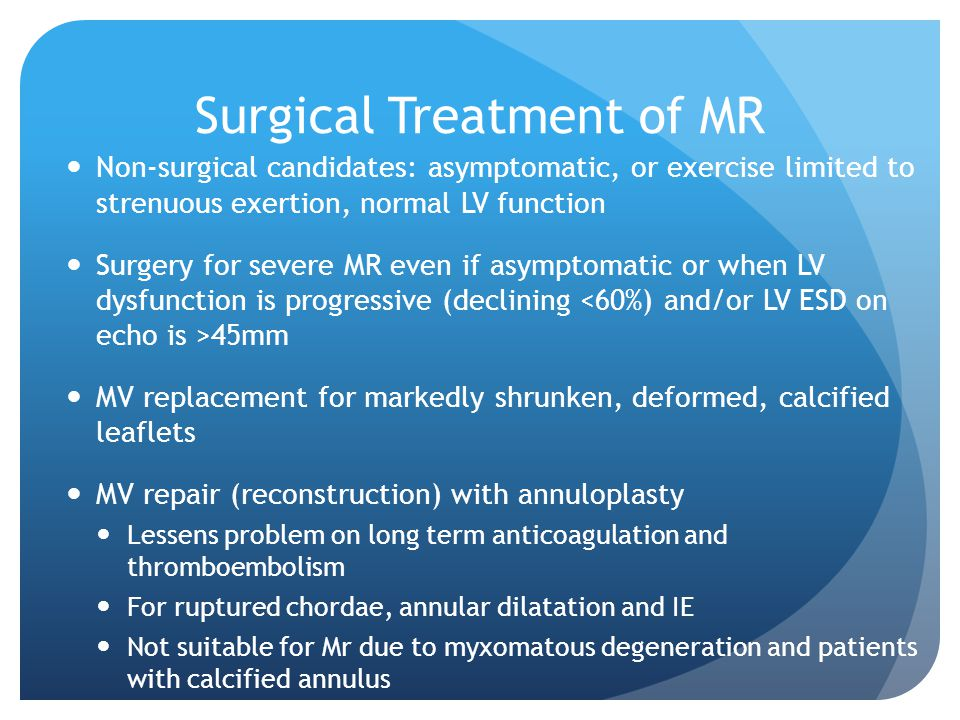 Surgical Treatment of MR