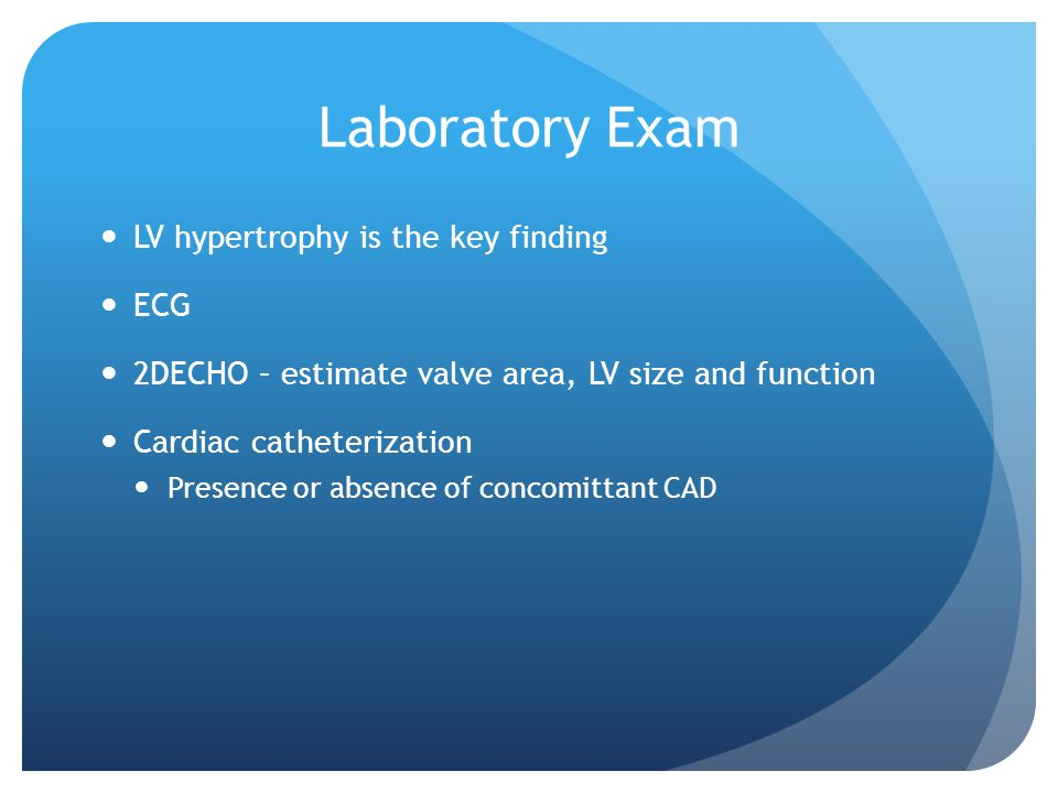 Laboratory Exam LV hypertrophy is the key finding ECG