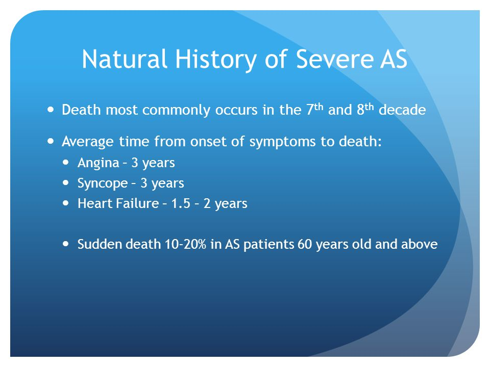 Natural History of Severe AS