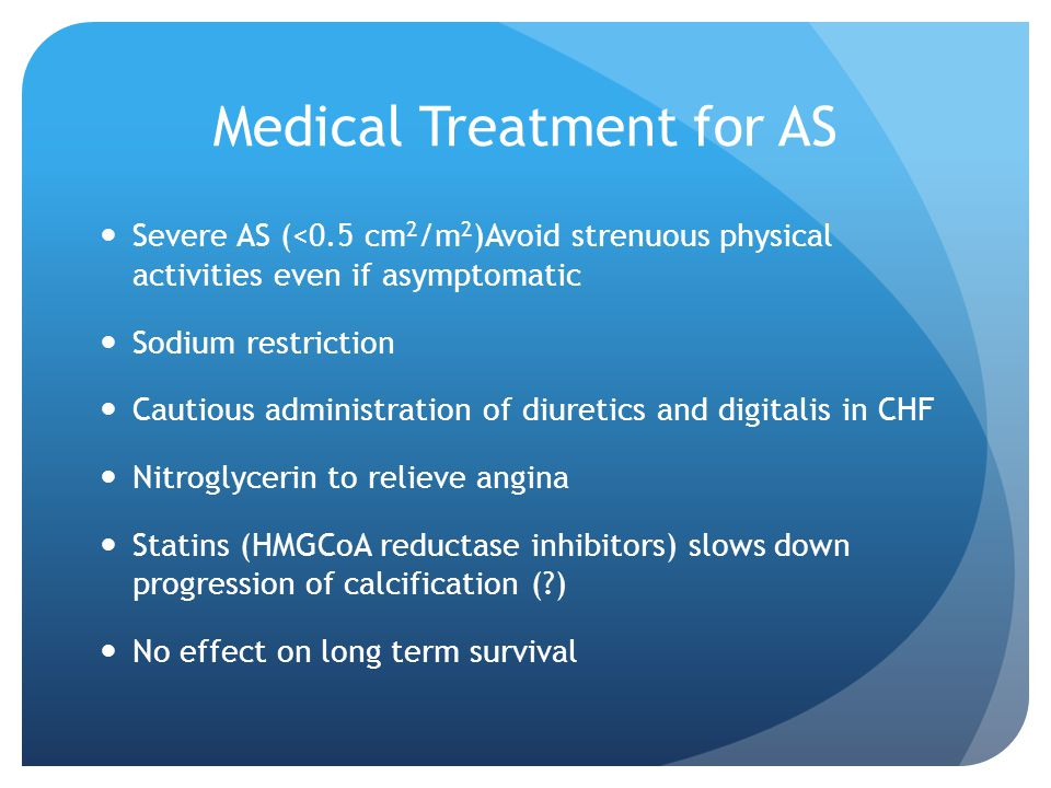 Medical Treatment for AS