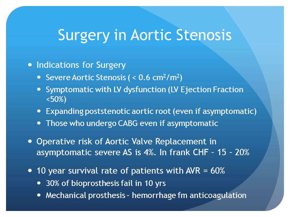 Surgery in Aortic Stenosis