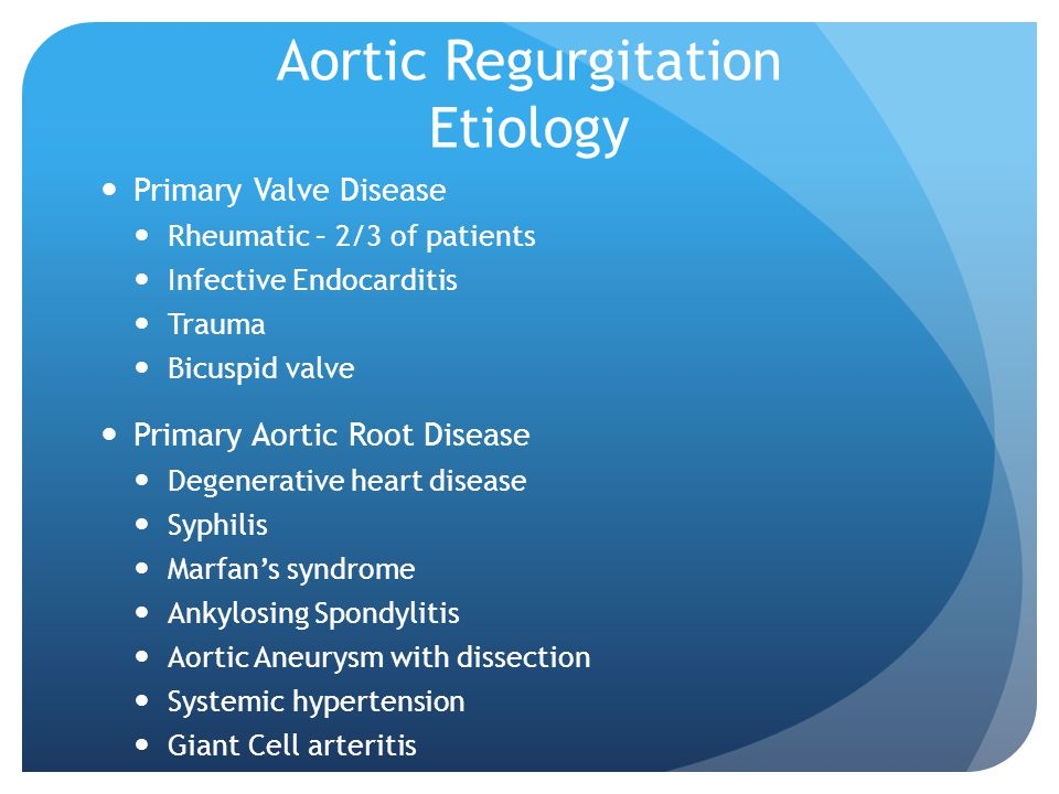 Aortic Regurgitation Etiology