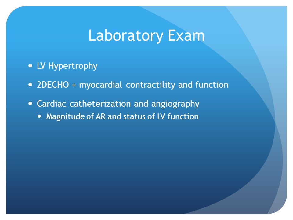 Laboratory Exam LV Hypertrophy