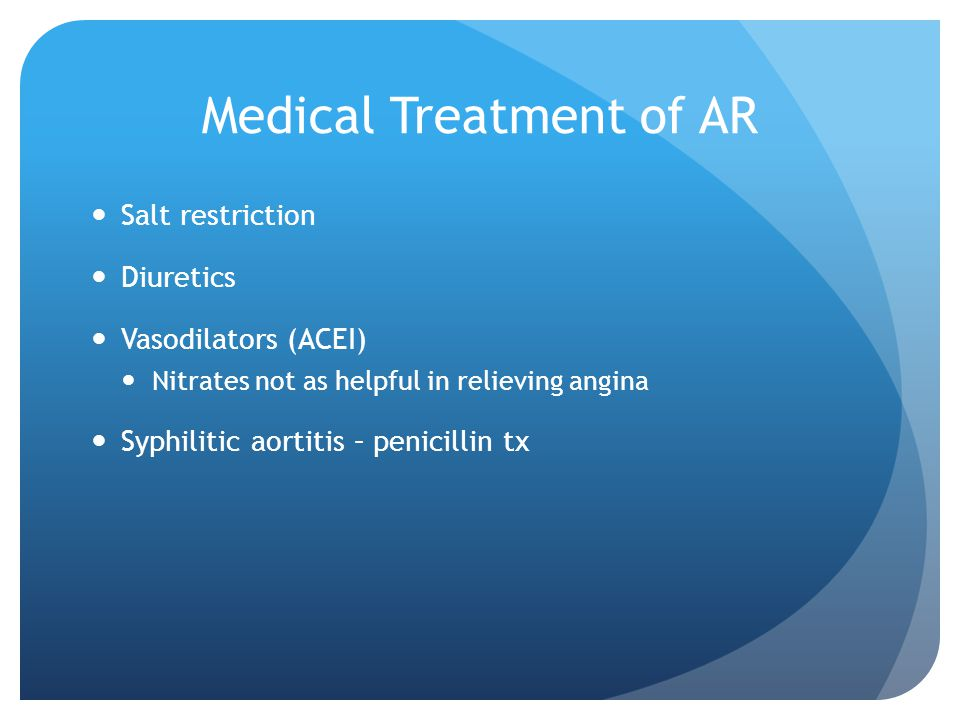 Medical Treatment of AR