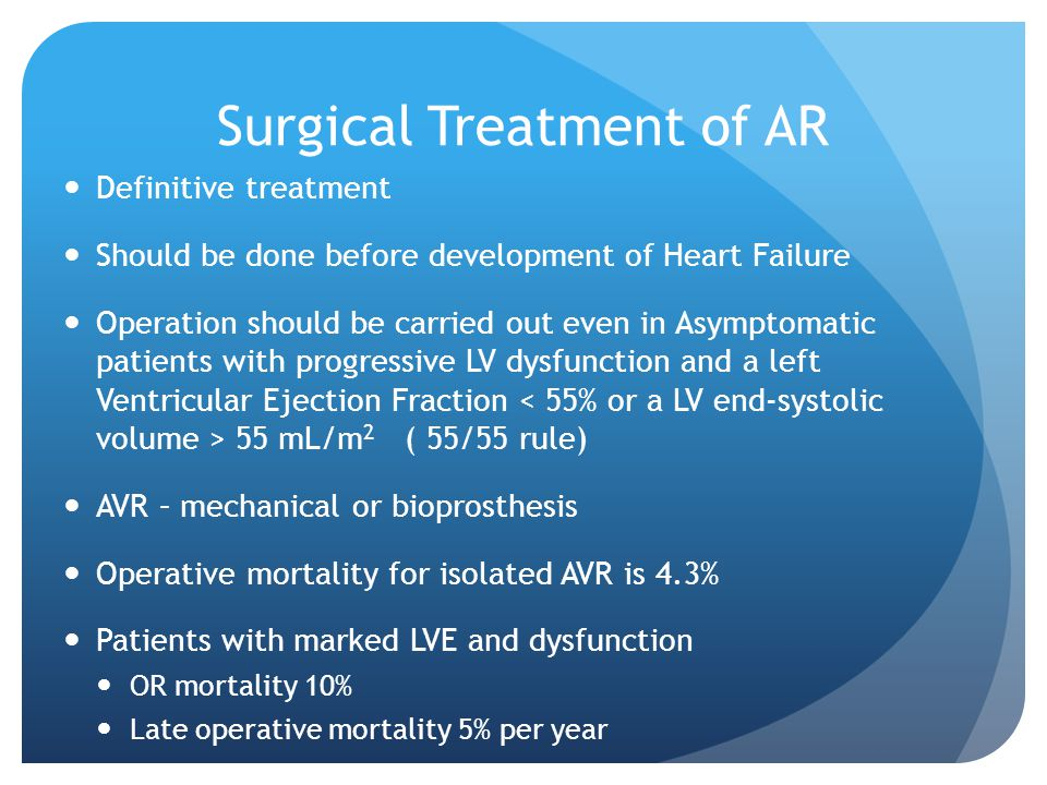 Surgical Treatment of AR