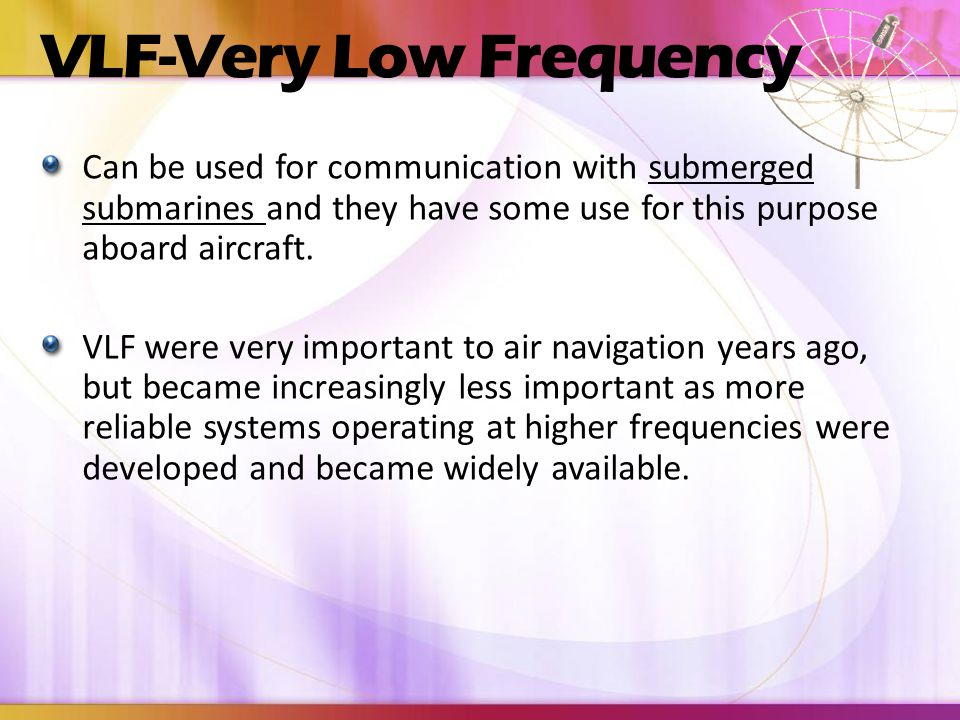 VLF-Very Low Frequency