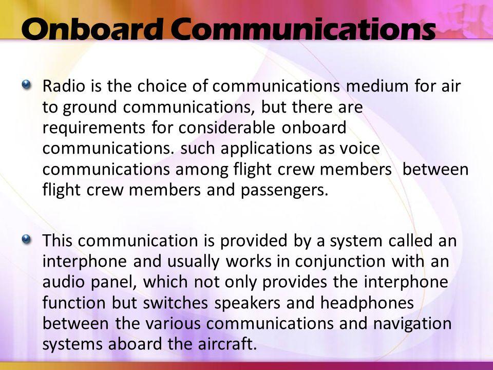 Onboard Communications