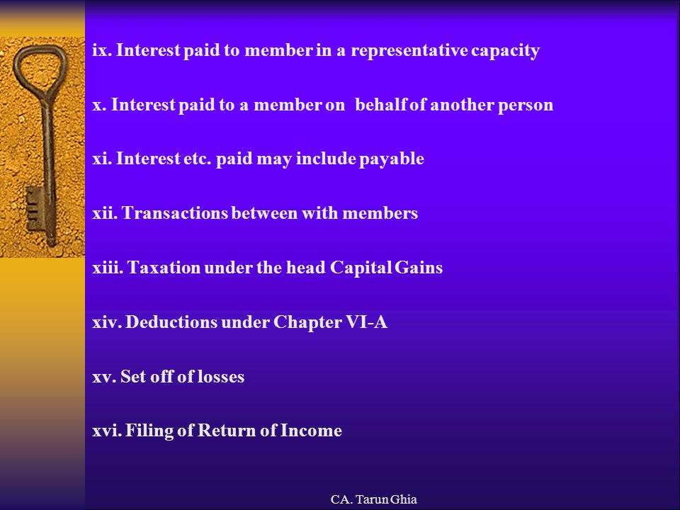 ix. Interest paid to member in a representative capacity