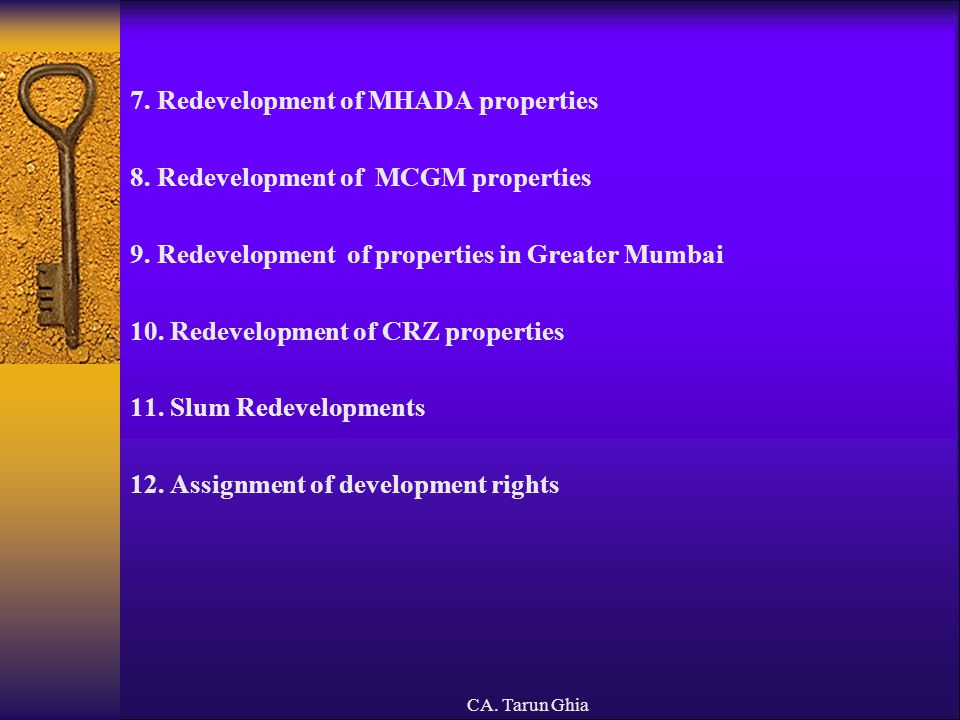 7. Redevelopment of MHADA properties