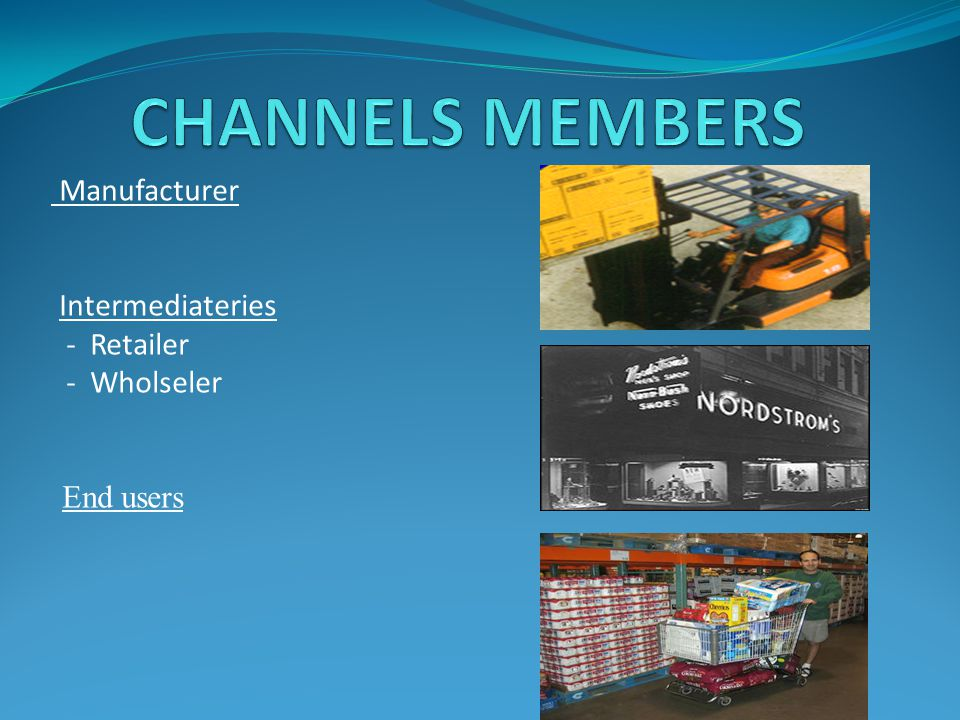 Manufacturer Intermediateries - Retailer - Wholseler End users