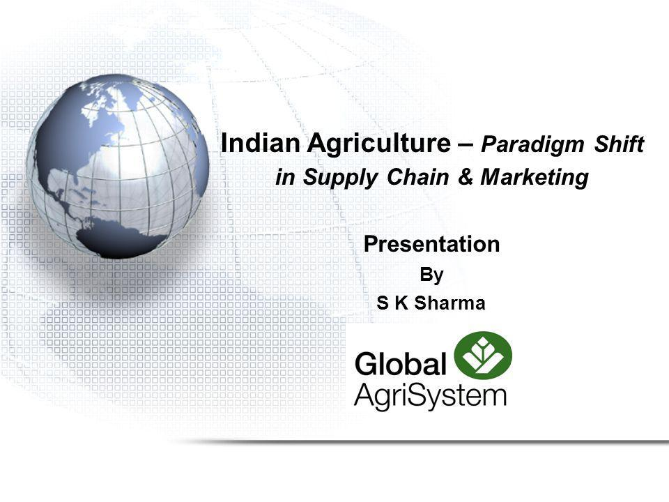 Indian Agriculture – Paradigm Shift in Supply Chain & Marketing