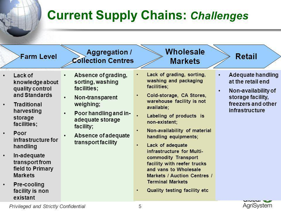Current Supply Chains: Challenges