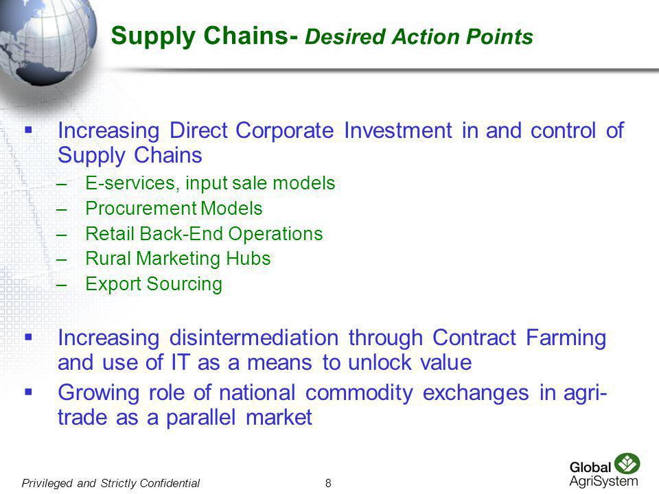 Supply Chains- Desired Action Points