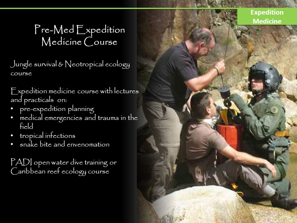 Pre-Med Expedition Medicine Course