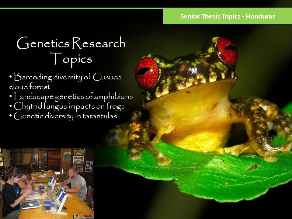Genetics Research Topics Senior Thesis Topics - Honduras