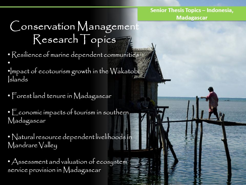Conservation Management Research Topics