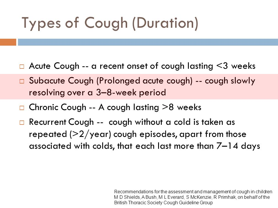 Types of Cough (Duration)