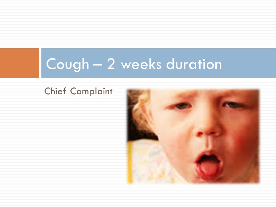 Cough – 2 weeks duration Chief Complaint picture